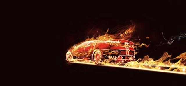 Flaming Car Photoshop tutorial for graphic designers