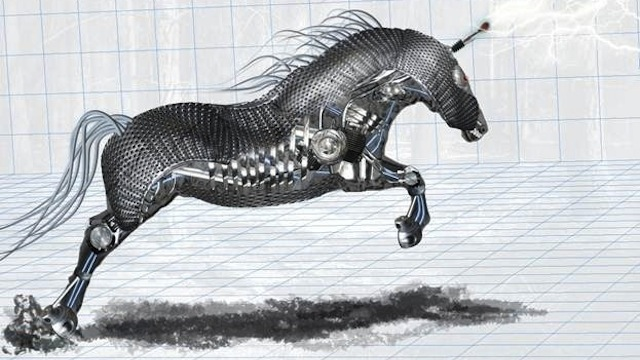 Amazing Mechanical Horse tutorial for graphic designers with Photoshop