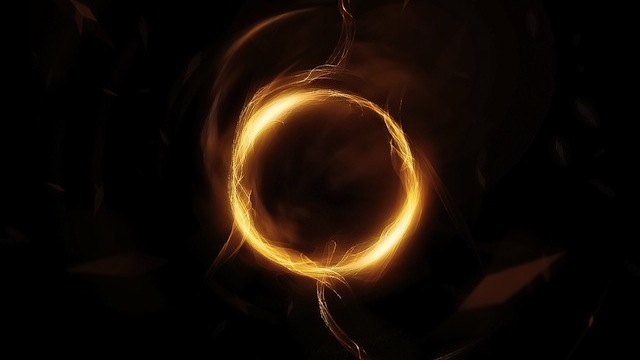 Abstract Golden Circle with Smoke Brushset tutorial for graphic designers with Photoshop