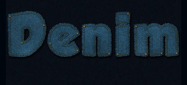 Stitched Denim Text Effect - Best Photoshop Tutorials