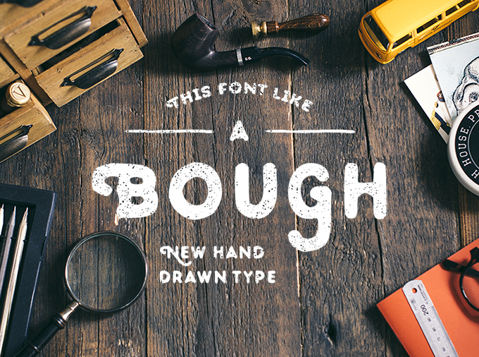 Bough Hand-Drawn Typeface