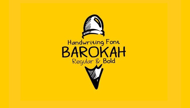 Barokah Uppercase & Lowercase Display