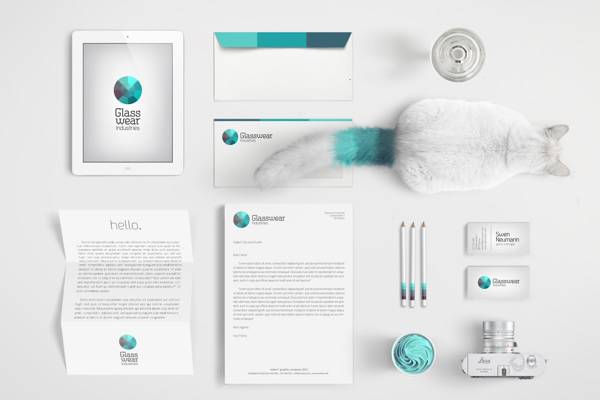 Glasswear Industries Branding by Nina Geometrieva - Branding Inspiration